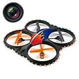 Haktoys HAK909C Large 2.4GHz 4 Channel RC Quadcopter, 6 Axis Gyroscope, Rechargeable, Ready To Fly, Camera-Ready...
