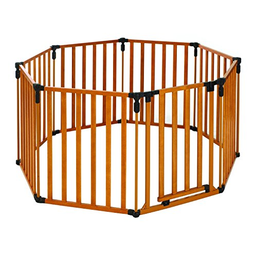 North States 3-in-1 Wood Superyard Baby/ Pet Gate and Play Yard + Extension Kit (North States Industries 2 Panel compare prices)