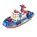幼児 子供 赤ちゃん 電動 船 消防艇 お風呂 おもちゃ 噴水 ボート 海賊王船 水遊び 玩具 パイレーツ 知育玩具