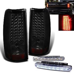 rxmotoring 2004 2005 2006 gmc sierra led tail light 8 led bumper fog. Black Bedroom Furniture Sets. Home Design Ideas