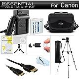 Essential Accessories Kit For Canon PowerShot SX500 IS, SX510 HS, SX510HS, SX520 HS, SX530 HS Digital Camera Includes Replacement NB-6L Battery + A/Dc Charger + Mini HDMI Cable + Case + Tripod + More