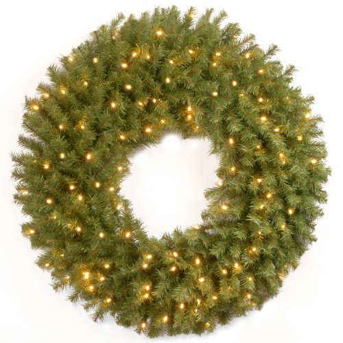 National Tree Nf-304L-36W-1 Norwood Fir Wreath With 100 Concave Soft White Led Lights, 36-Inch