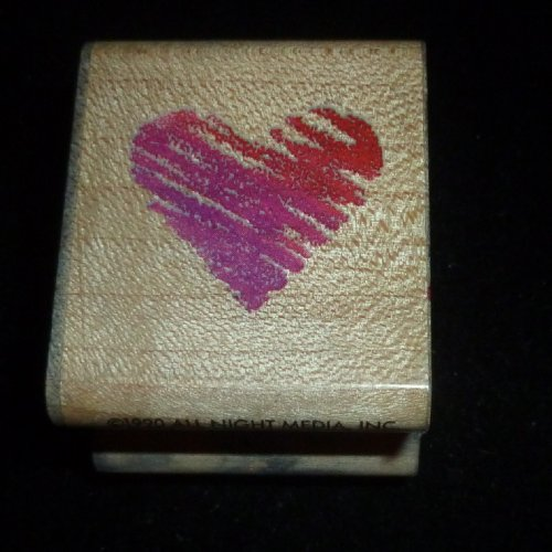 Scribble Heart Rubber Stamp - 1