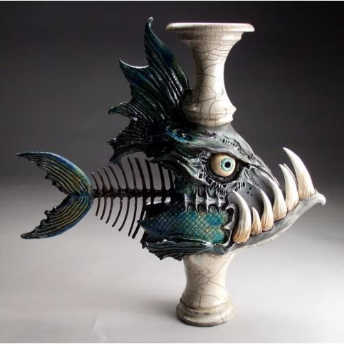 Mitchell grafton monster fish ceramic for Cool ceramic art