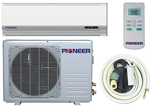 Frontiersman Ductless Mini Split Air Conditioner, Heat Pump, 12000 BTU (1 Ton), 13 SEER, Cooling, Heating, Dehumidification, Ventilation. Including 16 Foot Base Kit. 110~120 VAC.