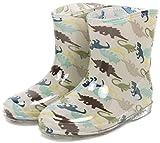 (モンフレール) Mon Frere ベビー キッズ レインブーツ 子供靴 男女兼用 長靴 雨靴 きょうりゅうグレー 18.0