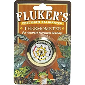 Fluker`s Precision Calibrated Thermometer for Accurate Terrarium Readings (Round)