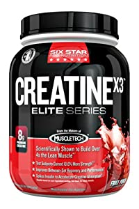 Six Star Pro Nutrition Elite Series Creatine X3 2.5lb Fruit Punch US
