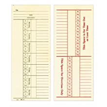 Adams Time Cards, Weekly, Overtime Format, 3.4 x 9 Inches, Manila, 2-Sided, 200 Count (9660-200)