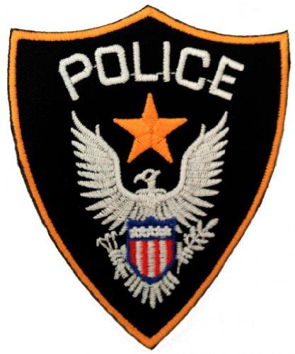 vetetents police logo patch 39 39 7 x 8 8 cm 39 39 cusson brod ecussons imprim s ecussons. Black Bedroom Furniture Sets. Home Design Ideas