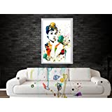 Audrey Hepburn Poster Water Color Digital Poster Art- Improve Your Home Wall, Perfect Gift, Home Décor Art- (Without...