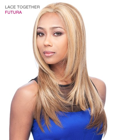 Lace Together Synthetic Lace Front Wig By It's a Wig (Color 1B)