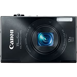 Canon PowerShot ELPH 520 HS 10.1 MP CMOS Digital Camera with 12x Optical Image Stabilized Zoom 28mm Wide-Angle Lens and 1080p Full HD Video Recording (Black) (Discontinued by Manufacturer)