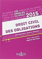 Annales Droit civil des obligations 2015