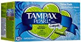 Tampax Pearl Tampons With Plastic Applicator, Compak, Super Absorbency 40 Ea