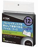 TDK LoR Blu-ray用 ファイルタイプ・ケース 12枚収納X1パック グラファイトカラー CASE-BDF12GR1A