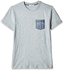 Fox Boys' T-Shirt  (Grey Melange_16 years_337411)