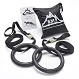 Black Mountain Products Multi-Use Exercise Gymnastics Rings, Black