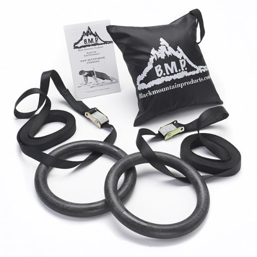 Black Mountain Products Multi Use Exercise Gymnastics Rings