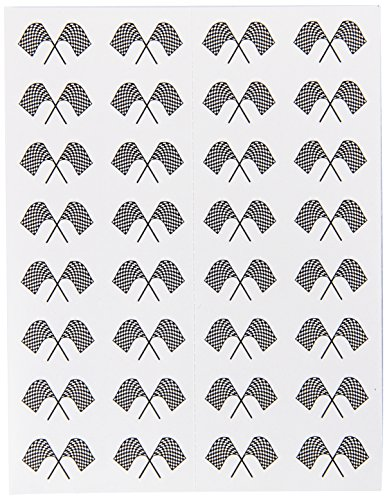 Checkered Flag Stickers   (4 Shs/Pkg) - 1