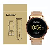 Lamshaw Smartwatch Band for Fossil Q Wander Gen 1/Gen 2 ,Stainless Steel Metal Replacement Straps for Fossil Q Wander Smartwatch (Rose Gold)