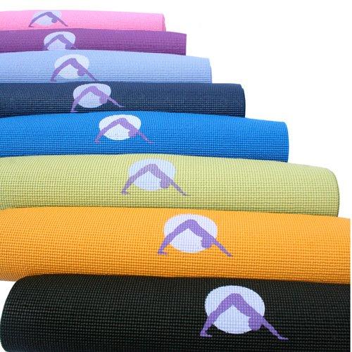 Imagen de Alfombra de Yoga por las auroras, la ultra grueso con el icono Punto Focal de luz y los colores que definen su posada, la energía solar