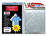4-PACK-VAS-DOUBLE-STRENGTH-5-MIL-ADULT-CLEAR-65-x-44-EMERGENCY-HOODED-RAIN-PONCHO-WITH-HODD-SLEEVES-DRAW-STRING