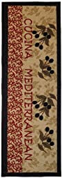 Anti-Bacterial Rubber Back Home and KITCHEN RUGS Non-Skid/Slip 2x5 | Italian Olive Garden | Decorative Runner Door Mats Low Profile Modern Thin Indoor Floor Area Rugs for Kitchen