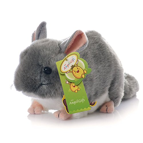Cuddly Big Soft Toys Emulation Gray Chinchilla Doll 12 Soft Baby Stuffed Animal Toy Valentine's Day Birthday Xmas Christmas Wedding Anniversary Presents Gifts by AngelGift