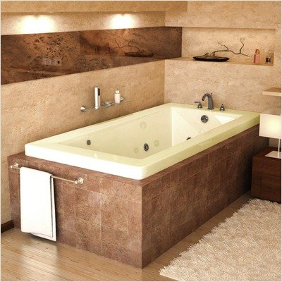 Guadeloupe 32 X 60 X 23 Rectangular Whirlpool Jetted Bathtub Color Trim Biscuit Polished Chrome Options Tile Flange Drain Right Muslisevdokimovsd