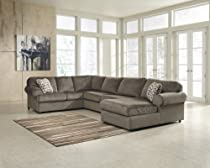 Hot Sale Jessa Place Dune Fabric Upholstery 3 Pc Sectional With Right Arm Facing Chaise