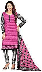 AAINA Women's Cotton Unstitched Dress Material (Pink)