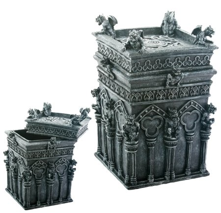 Gargoyle Treasure Box - Collectible Gothic Jewelry Container Figure