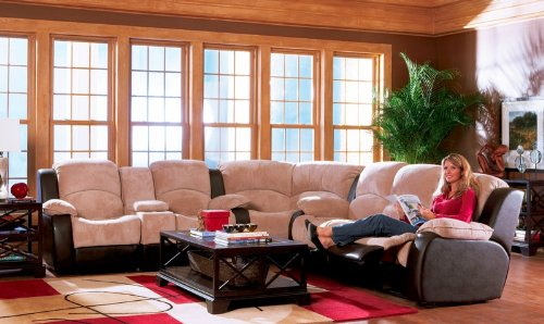 Buy Sectional Recliner Sofa Suede Soft Microfiber Brown