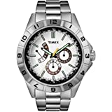 Timex Gents Retrograde Steel Bracelet Watch T2N518