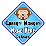 Personalised Cheeky Monkey on Board C...