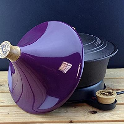 Netherton Foundry Cast Iron Slow Cooker with stylish purple tagine lid (2016 model) from Netherton Foundry