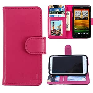 Dooda Genuine Leather Wallet Flip Case For Micromax Ninja A54 (PINK)