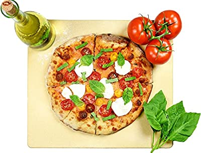 """Pizza Stone Rectangular 14"""" x 16"""" by Crustina, Baking Stone, Best Pizza Stone for Oven and for Pizza on the Grill, Pizza Cooking Stone Fits All Standard Oven and BBQ"""