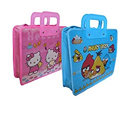 Infinxt Multipurpose Cartoon Printed School /Home /Tuition Use Handle Bag (Set Of 2)