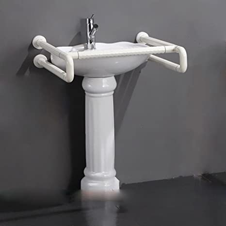 SAEJJ-Lavar el lavabo columna lavado Cuenca Cuenca sin barreras pasamanos para discapacitados en barandilla de slip de baño público aseo aseo
