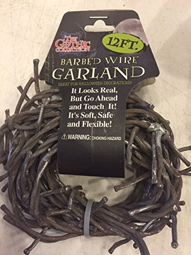 20 Feet RUSTED BARBED WIRE GARLAND - Soft, Safe, Flexible, and Long!