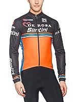 Santini Maillot Ciclismo (Negro / Naranja)
