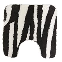 Zebra Print Bathroom Pedestal Mat/Rug