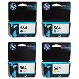HP 564 Inkjet Cartridges, Set of 4 (Black, Cyan, Magenta & Yellow)