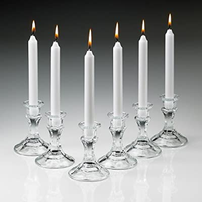 White Candles Taper 7 Inch. Burn 6 Hours Set of 30