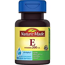 Nature Made Vitamin E, 200 IU, Liquid Softgels, 100 softgels