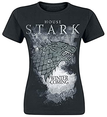 Game of Thrones Women's House Stark Regular Fit Short Sleeve T-Shirt