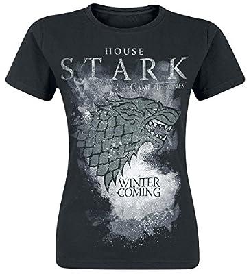 Game of Thrones Women's House Stark Regular Fit Short Sleeve T-Shirt