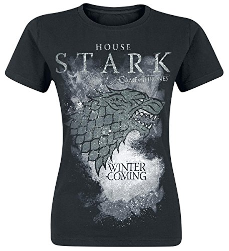 Game of Thrones - House Stark, Short sleeve da donna, grigio (charcoal grey), Medium